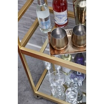 bexley gold bar cart