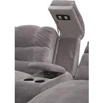 big softie ii gray  pc power reclining sectional