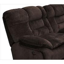 big softie dark brown power reclining sectional