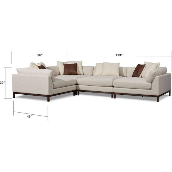 Living Room Furniture - Big Sur 4-Piece Sectional