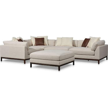 Big Sur 4-Piece Sectional with Ottoman - Ivory