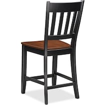 black and cherry counter height chair
