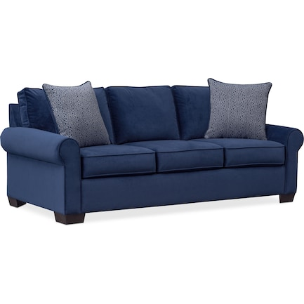 Blake Queen Foam Sleeper Sofa - Indigo