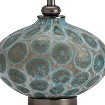 blue glass blue table lamp
