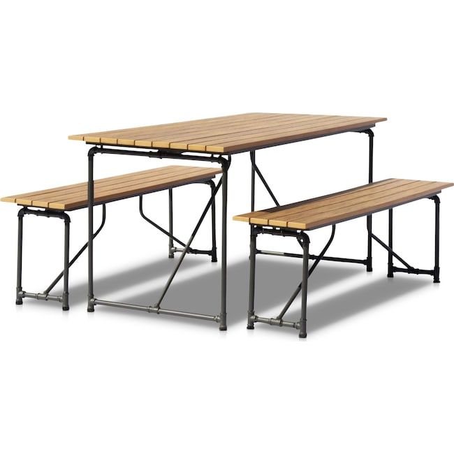 Outdoor Furniture - Bonaire Outdoor Picnic Table and Bench Set