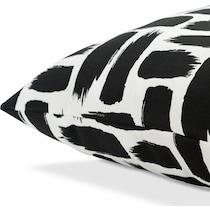 bondi black white outdoor pillow