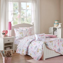 bonjour pink twin bedding set
