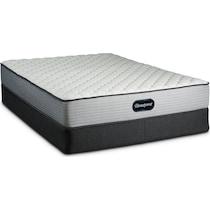 br firm white queen mattress foundation set