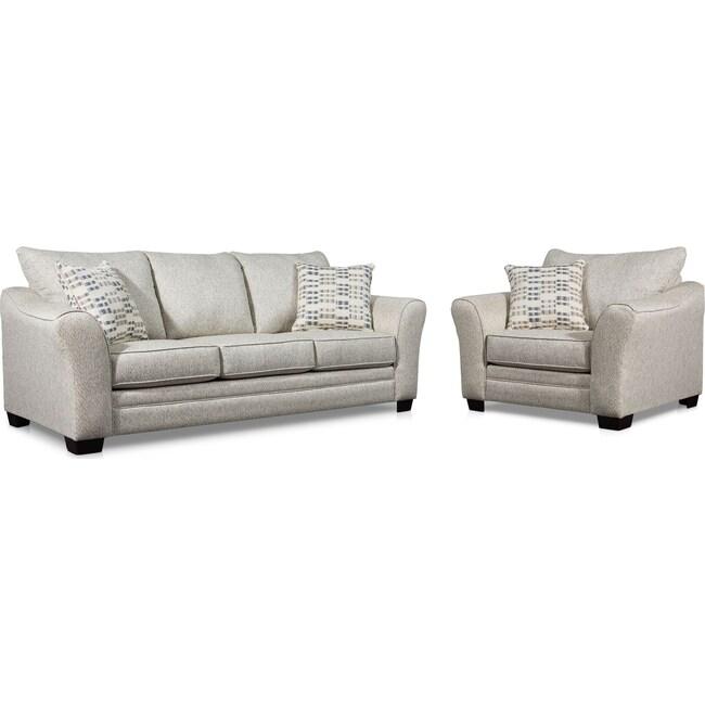 Living Room Furniture - Braden Sofa and Chair Set