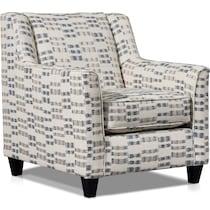 braden white accent chair
