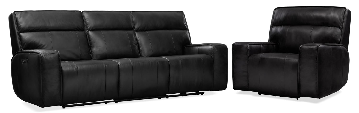 Living Room Furniture - Bradley Triple-Power Reclining Sofa and Recliner Set