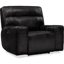 bradley black power recliner