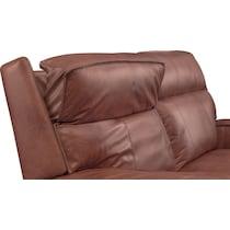 bradley dark brown power reclining loveseat
