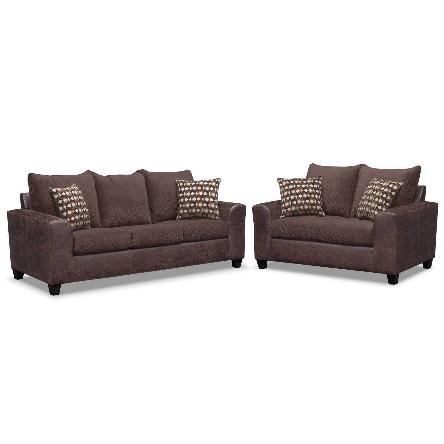 Living Room Furniture - Brando Sofa and Loveseat Set