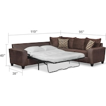 brando sectional chocolate dimension schematic