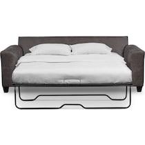 brando smoke gray sleeper sofa
