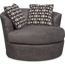brando smoke gray swivel chair