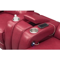 bravo red red  pc power home theater sectional