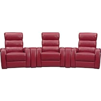 bravo red red power home theater sectional