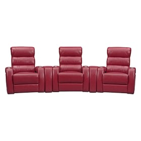 Bravo 5-Piece Power Reclining Home Theater Sectional with 3 Reclining Seats