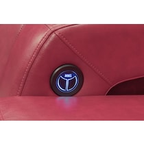 bravo red red power recliner