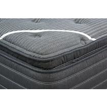 brb c class plush pillow top black california king mattress