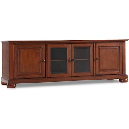 "Brenda 60"" Glass Door TV Stand - Cherry"