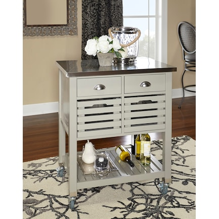 Brighton Kitchen Cart - Gray