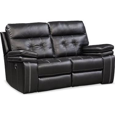 Brisco Manual Reclining Loveseat - Black