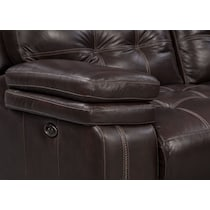 brisco brown power brown power reclining loveseat