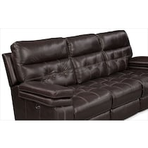 brisco brown power brown power reclining sofa