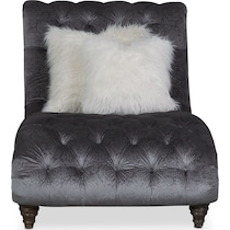 brittney charcoal gray chaise