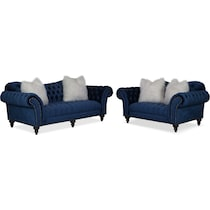brittney navy blue  pc living room