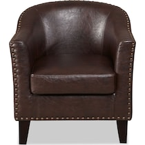 brogan brown accent chair