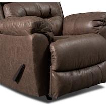 bronx dark brown manual recliner