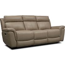 brooklyn white power reclining sofa