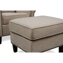 brooks light brown chair and ottoman
