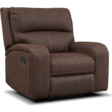 Burke Manual Recliner - Brown