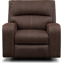 burke dark brown manual recliner
