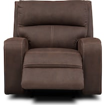 burke dark brown manual recliner