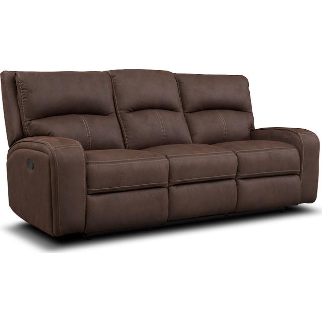 Living Room Furniture - Burke Manual Reclining Sofa