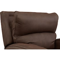 burke dark brown power recliner