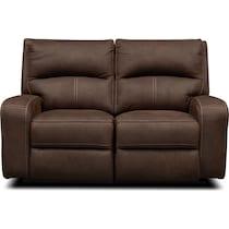 burke dark brown power reclining loveseat