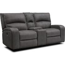 burke gray  pc manual reclining living room