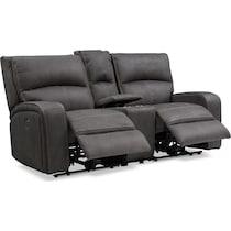 burke gray  pc power reclining living room