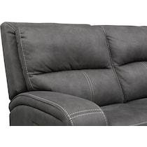 burke gray manual reclining loveseat