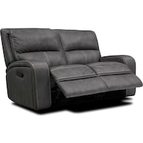 burke gray manual reclining loveseat