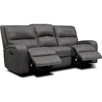 burke gray manual reclining sofa