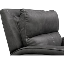 burke gray power recliner