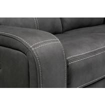 burke gray power reclining loveseat